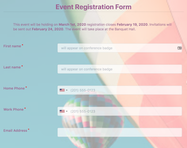 Event Registration Form