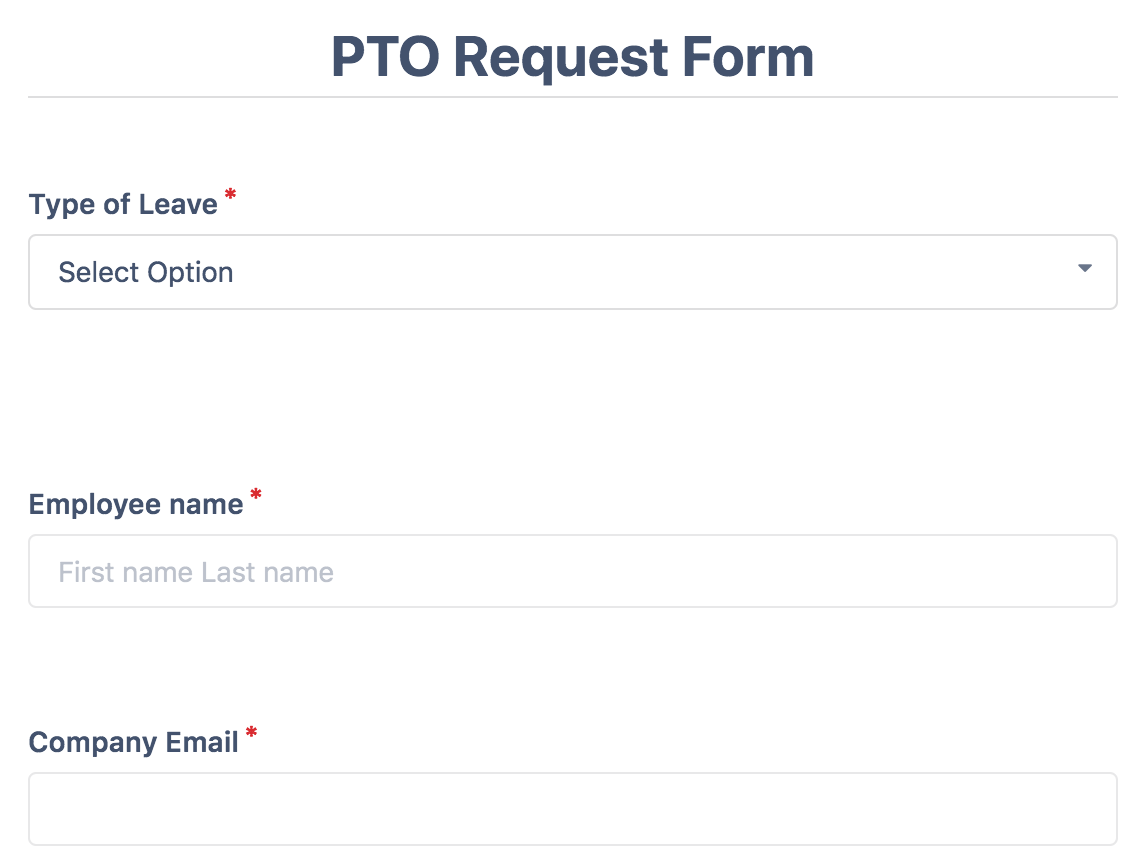 PTO Request Forms